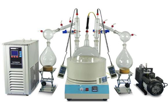 Short-path distillation system, efficient distillation
